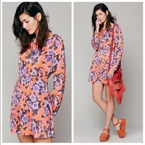 Free People Floral Parker Fit and Flare Dress